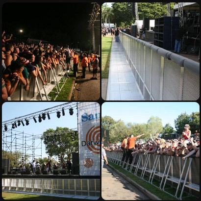 Crowd Managment using Framelock Barrier Crowd Control Fencing